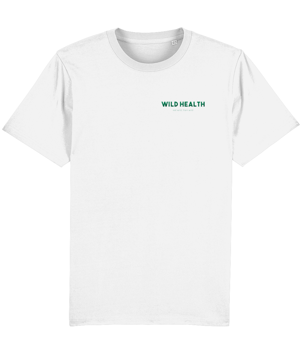 Wild Health Embroidered Sparker T-Shirt - White/Green