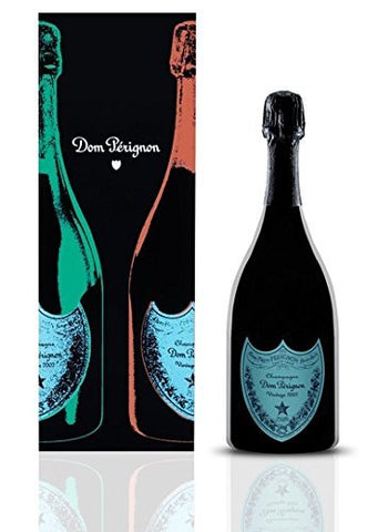 Dom Perignon 2002 Andy Warhol Champagne 75cl - Gift Boxed - EMERALD GREEN