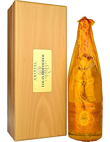 Louis Roederer Champagne Cristal 2007 MAGNUM 1.5 Litre - In a Deluxe Cristal Wooden Gift Box