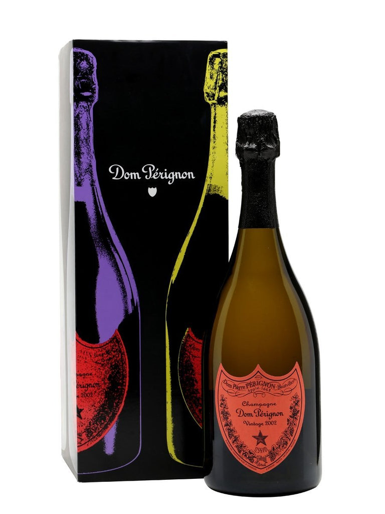 Dom Perignon 2002 Andy Warhol Champagne 75cl - Gift Boxed - RED