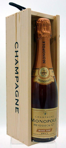 Heidsieck & Co. Monopole Rosé Top Brut Champagne 37.5cl - In a Champagne Wooden Gift Box