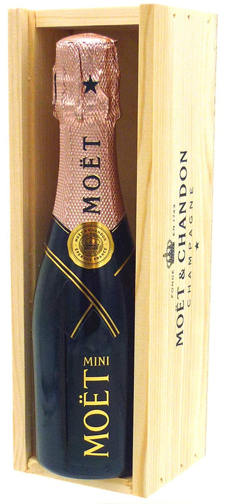 Moët & Chandon Rosé Champagne 20cl in a Wooden Box - Mini Moet