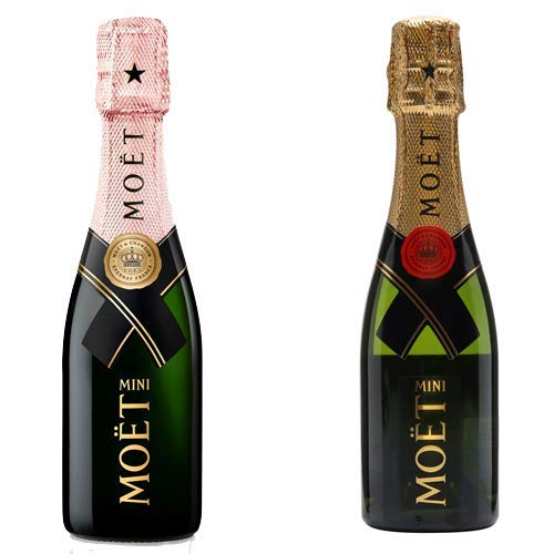 Moët & Chandon Brut & Rosé Champagne, Mini Moët Duo 2 x 20cl