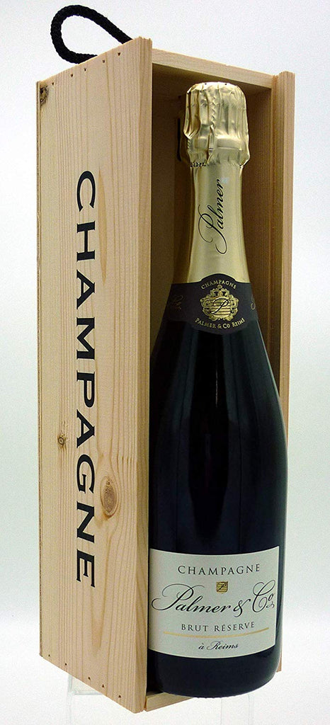 Palmer & Co. Brut Reserve Champagne 75cl in a Wooden Champagne Gift Box
