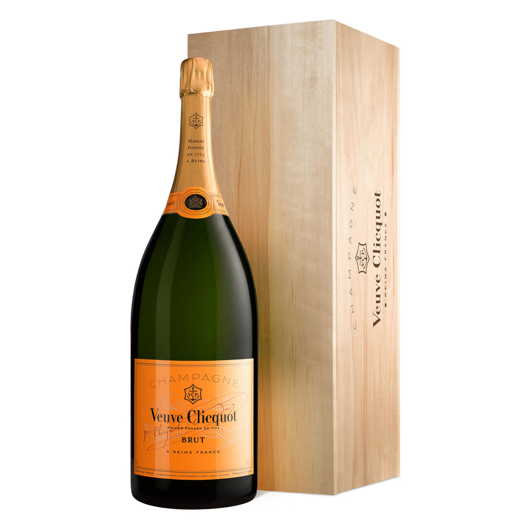 Veuve Clicquot Yellow Label Brut Champagne Jeroboam, 3 Litre in wooden box