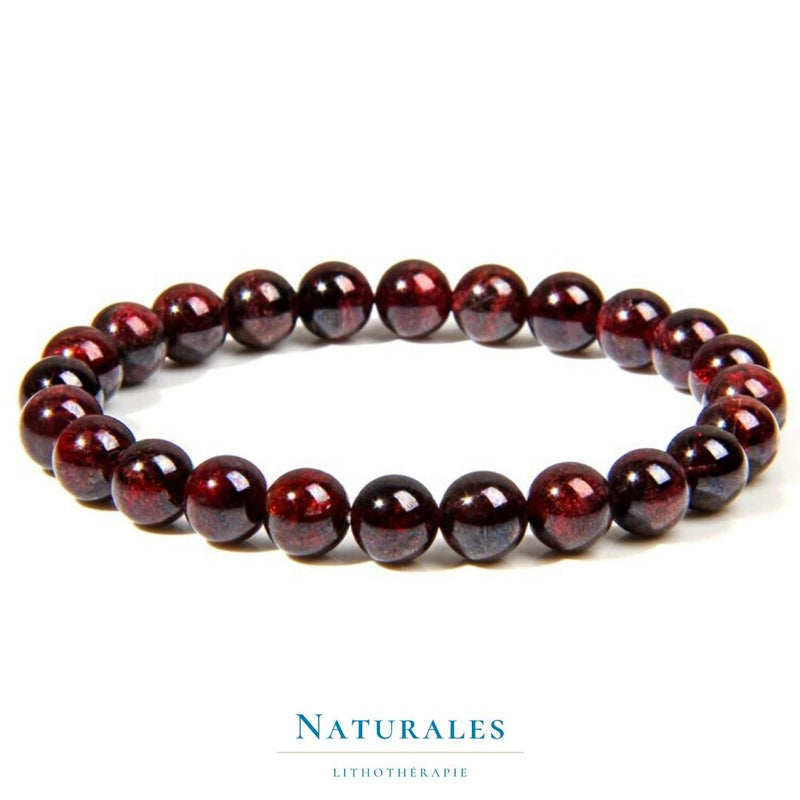 Bracelet grenat rouge - protection / couple / assurance - Naturales.fr