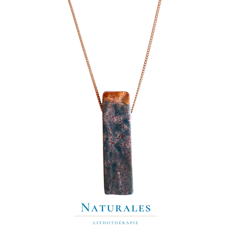 Collier Agate indienne - Pierre naturelle - Naturales.fr