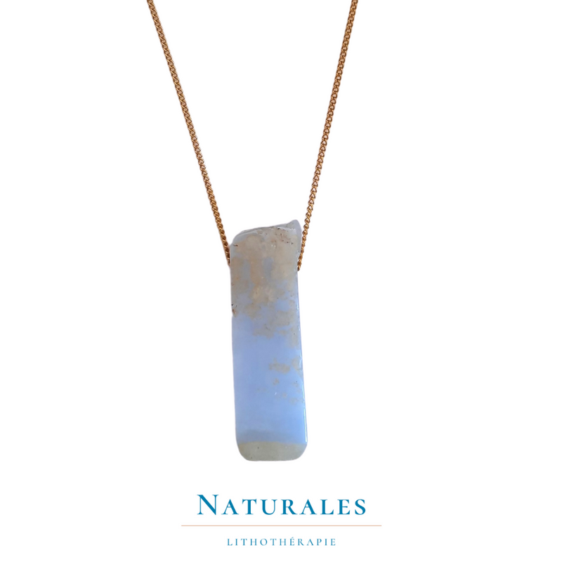Collier Agate blue lace - pierre naturelle