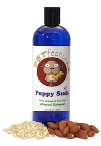 Natural and Organic Almond Oatmeal Puppy Suds Pet Shampo