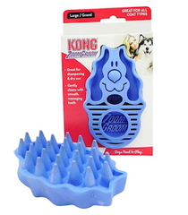 Kong brand rubber Zoom Groom scrub brush for dogs