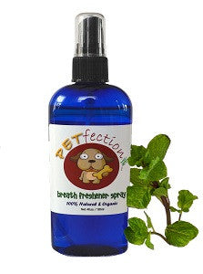 Organic Dog Breath Freshener and Tooth Cleaner Spray