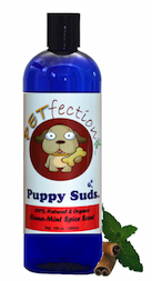 Natural and Organic Cinnamon Spice Scent Puppy Suds Dog Shampoo