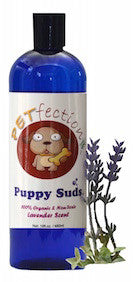 PETfection Natural and Organic Lavender Scented Puppy Suds Dog Shampoo