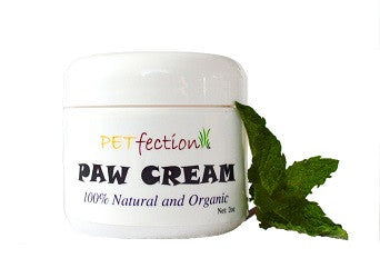 PETfection Organic Peppermint Scented Paw Cream for Dogs