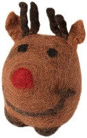 Holiday Wool Reindeer Dog Toy