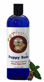 PETfection Chemical Free Cinnamon Spice Scented Puppy Suds Dog Shampoo