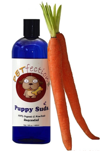 PETfection Natural and Organic Unscented Puppy Suds Dog Shampoo