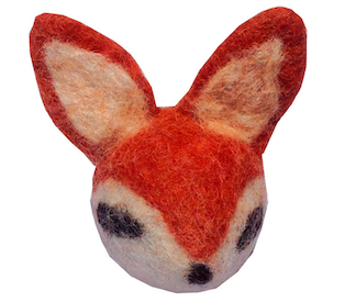 Wool Eco Rattle Fox