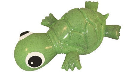 Recycled Rubber Turtle Dog Toy and Treat Holder