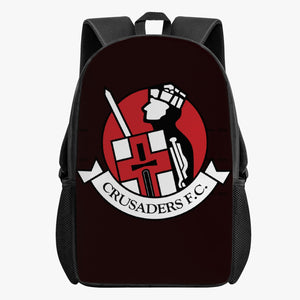 Crusaders FC Kid's School Backpack (BLACK) - Crusaders FC