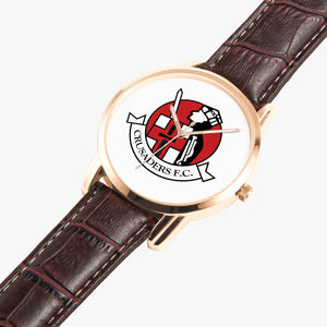 Crusaders FC Watch (Leather Straps) - Crusaders FC