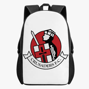 Crusaders FC Kid's School Backpack (BLACK/WHITE) - Crusaders FC