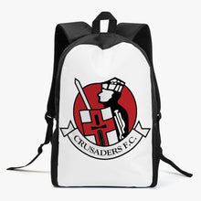 Load image into Gallery viewer, Crusaders FC Kid's School Backpack (BLACK/WHITE) - Crusaders FC