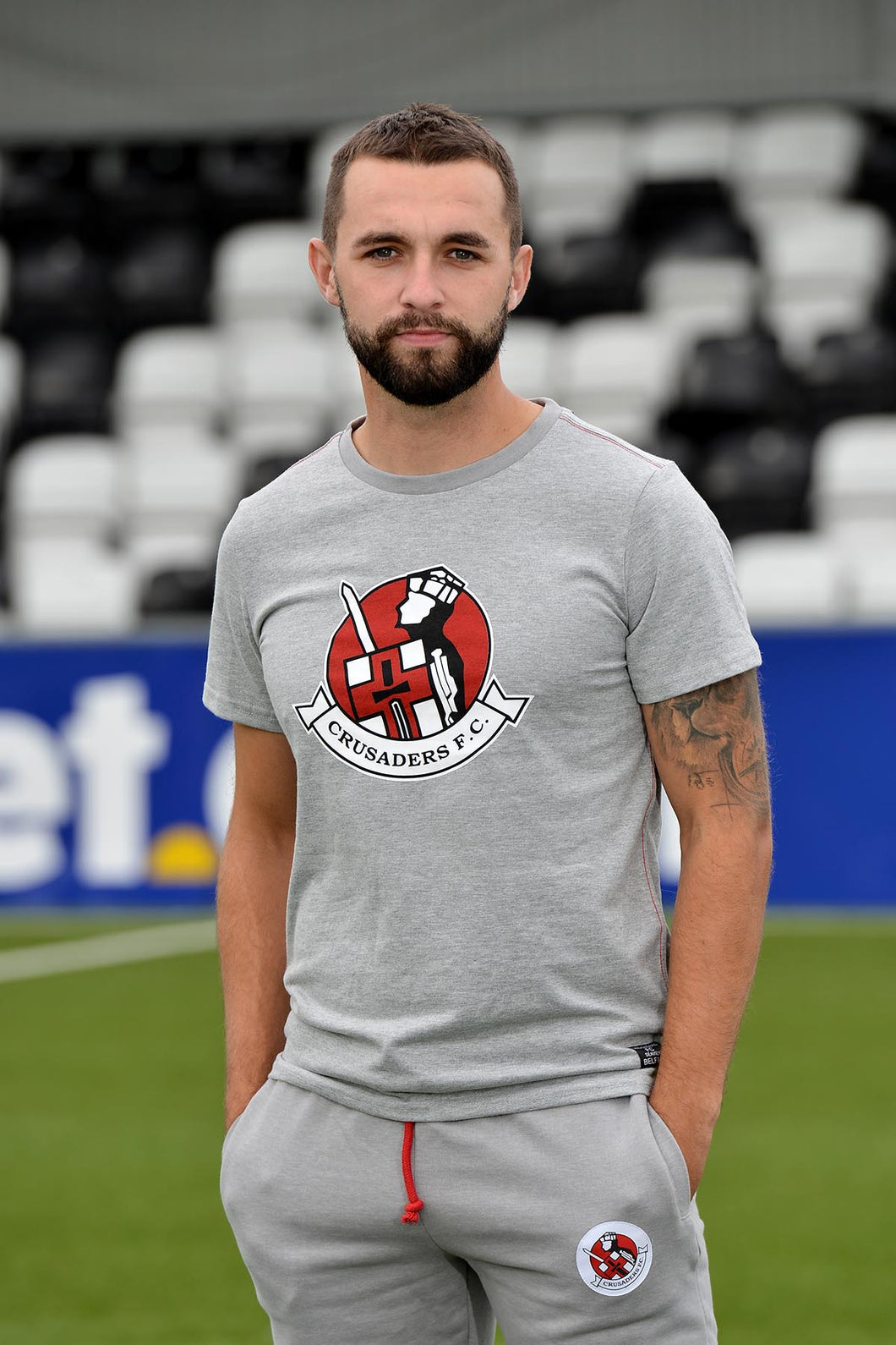 Crusaders Grey Tee - Crusaders FC