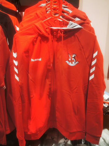 Crusaders FC WOMEN'S Hooded Full Zip - RED - Crusaders FC