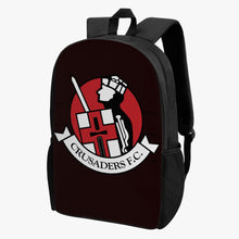 Load image into Gallery viewer, Crusaders FC Kid's School Backpack (BLACK) - Crusaders FC