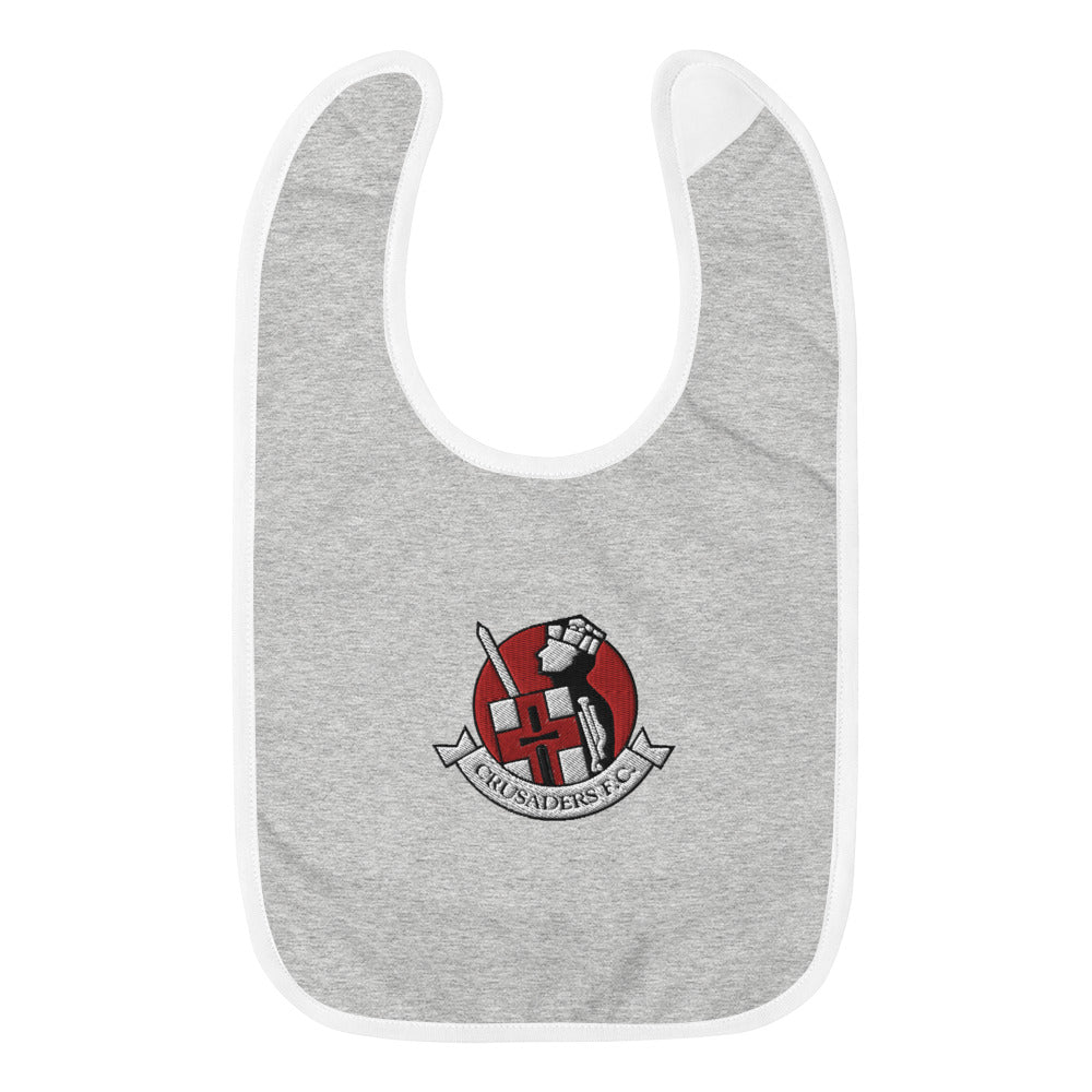 Embroidered Baby Bib - Crusaders FC