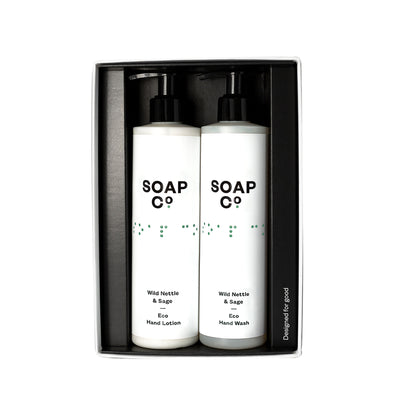 The Soap Co Wild Nettle & Sage Hand Duo Gift Set