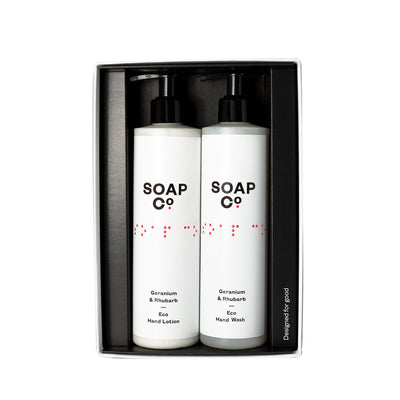 The Soap Co Geranium & Rhubarb Hand Duo Gift Set