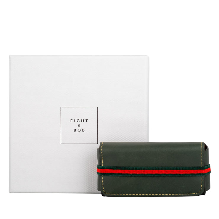 Eight & Bob Forest Green Leather Case