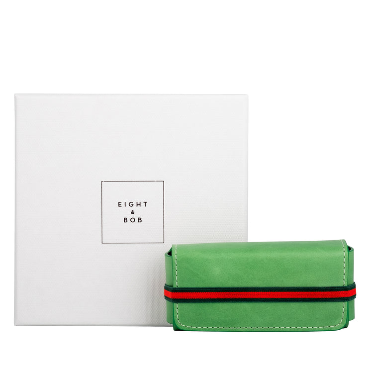 Eight & Bob Grass Green Leather Case