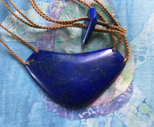 Double-Corded Lapis Breastplate (large)