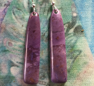 Purple Turkish Jade Earrings (Medium)