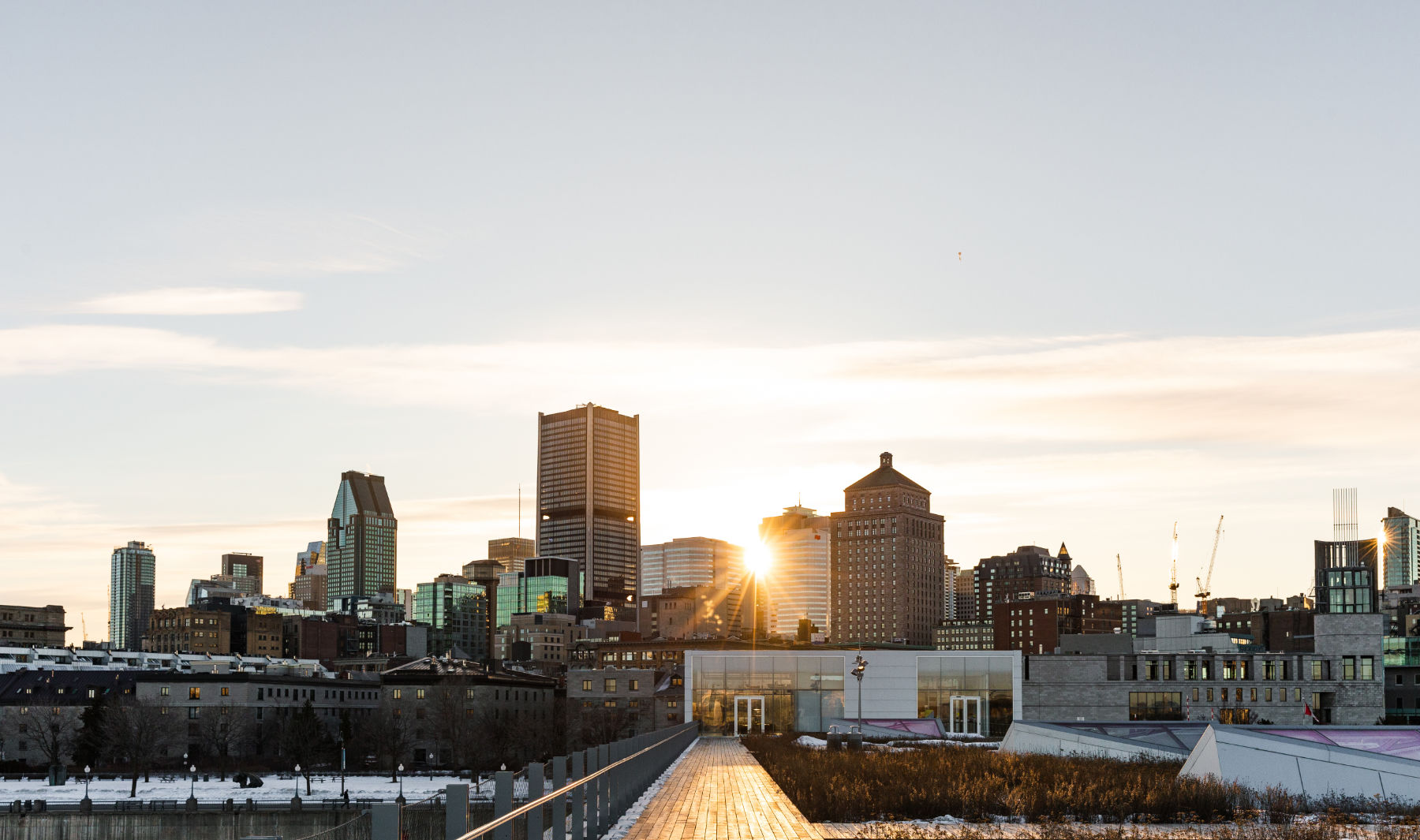 Urban landscape of the city of Montreal where Atoca products are handmade locally
