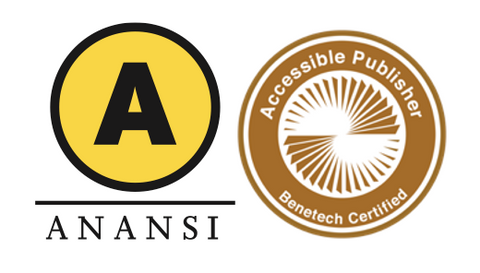 The House of Anansi Press Logo next to the Accessible Publisher Benetech Certified Seal