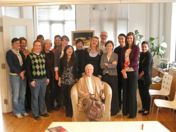 Diana Athill with the Anansi team