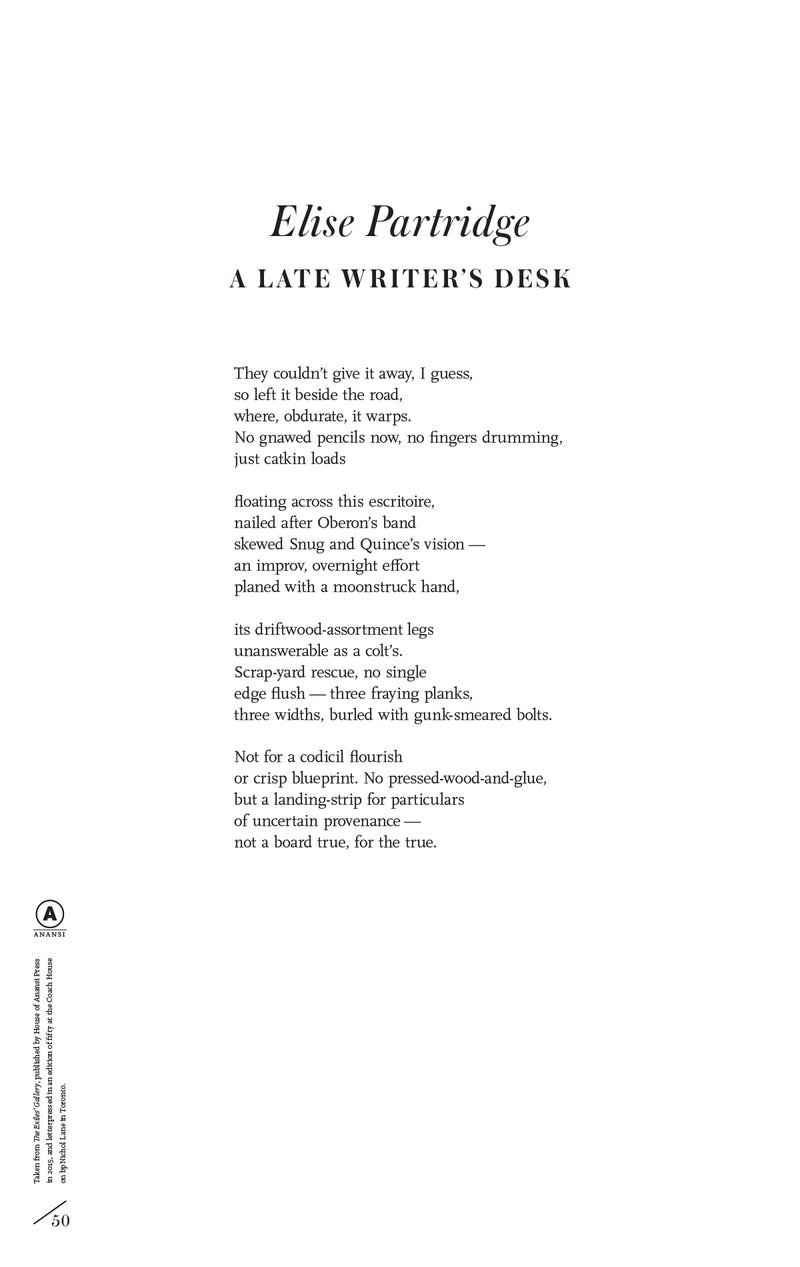 Cover of A Late Writer's Desk by Elise Partridge