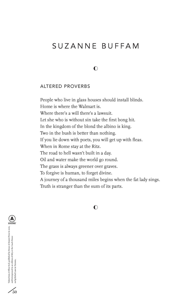 Cover of Altered Proverbs by Suzanne Buffam