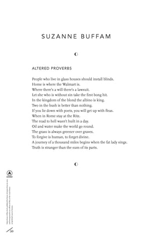 Altered Proverbs by Suzanne Buffam