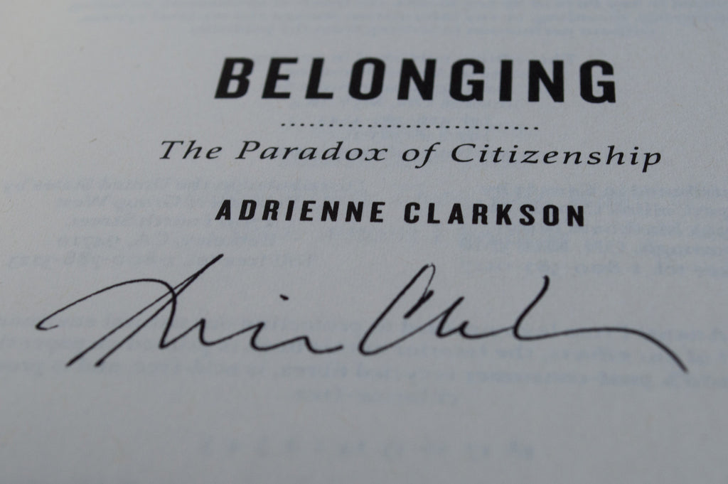 Belonging Signed Paperback Edition