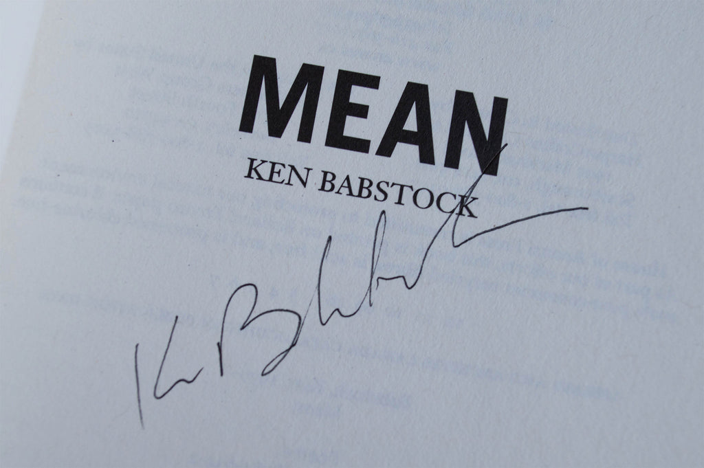 Mean Signed Paperback Edition