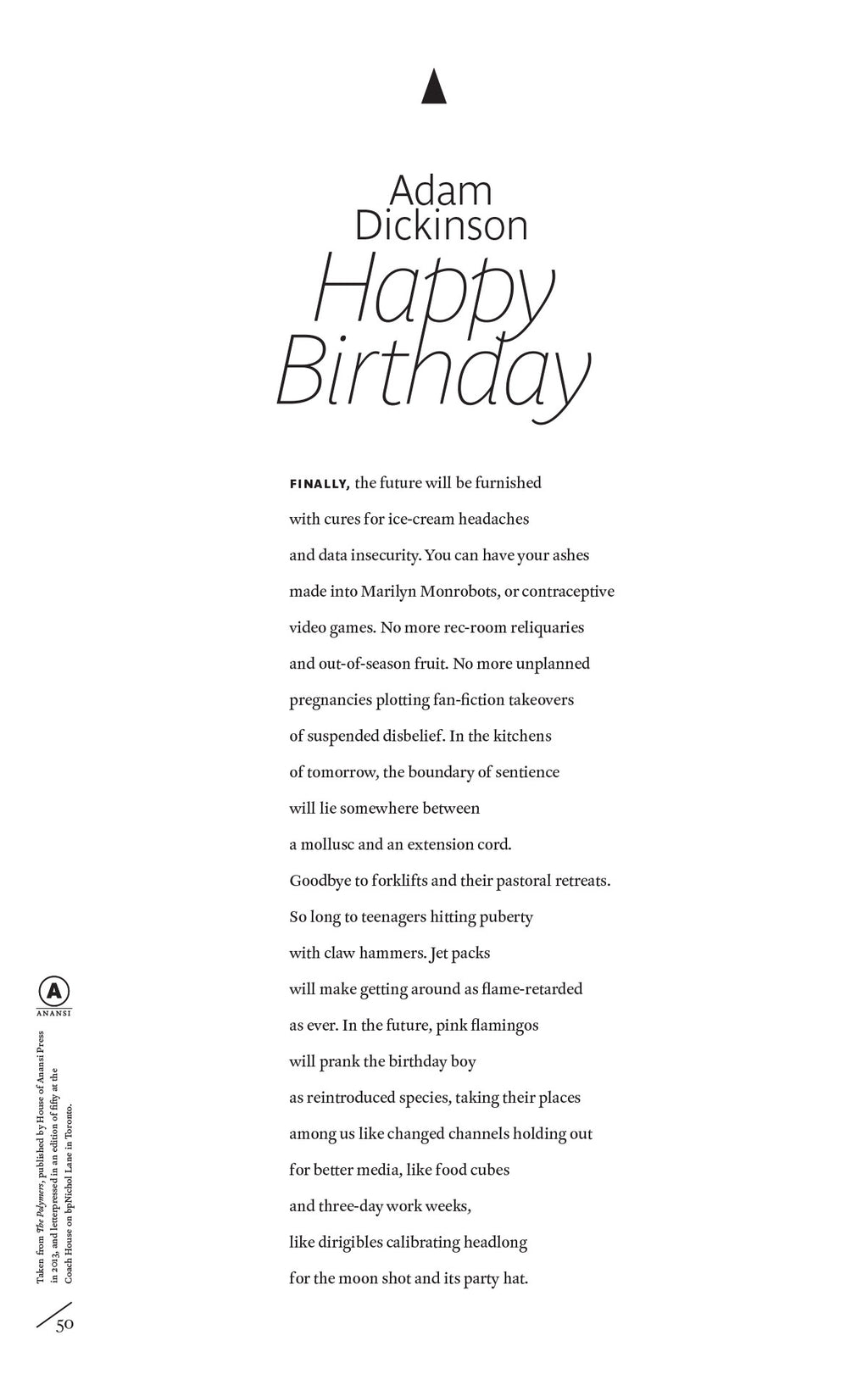 Happy Birthday by Adam Dickinson