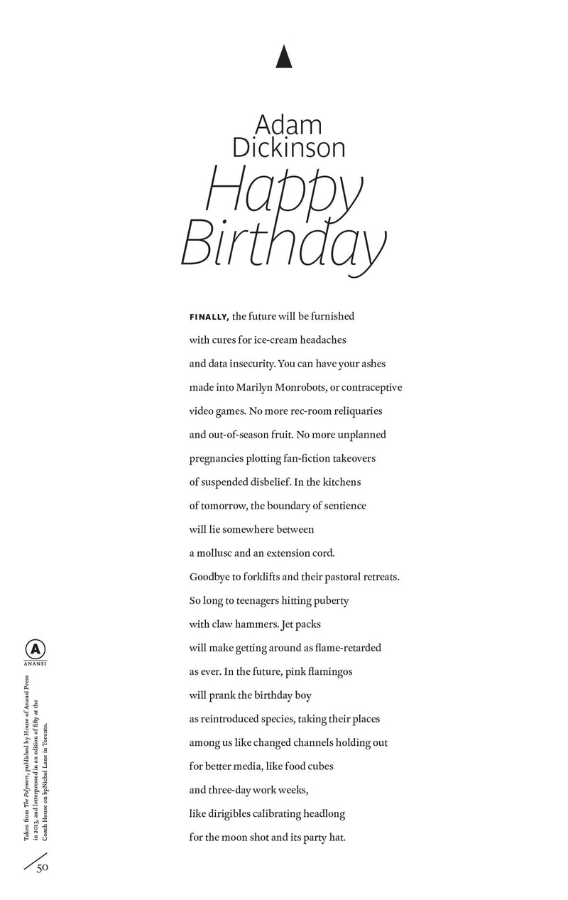 Cover of Happy Birthday by Adam Dickinson