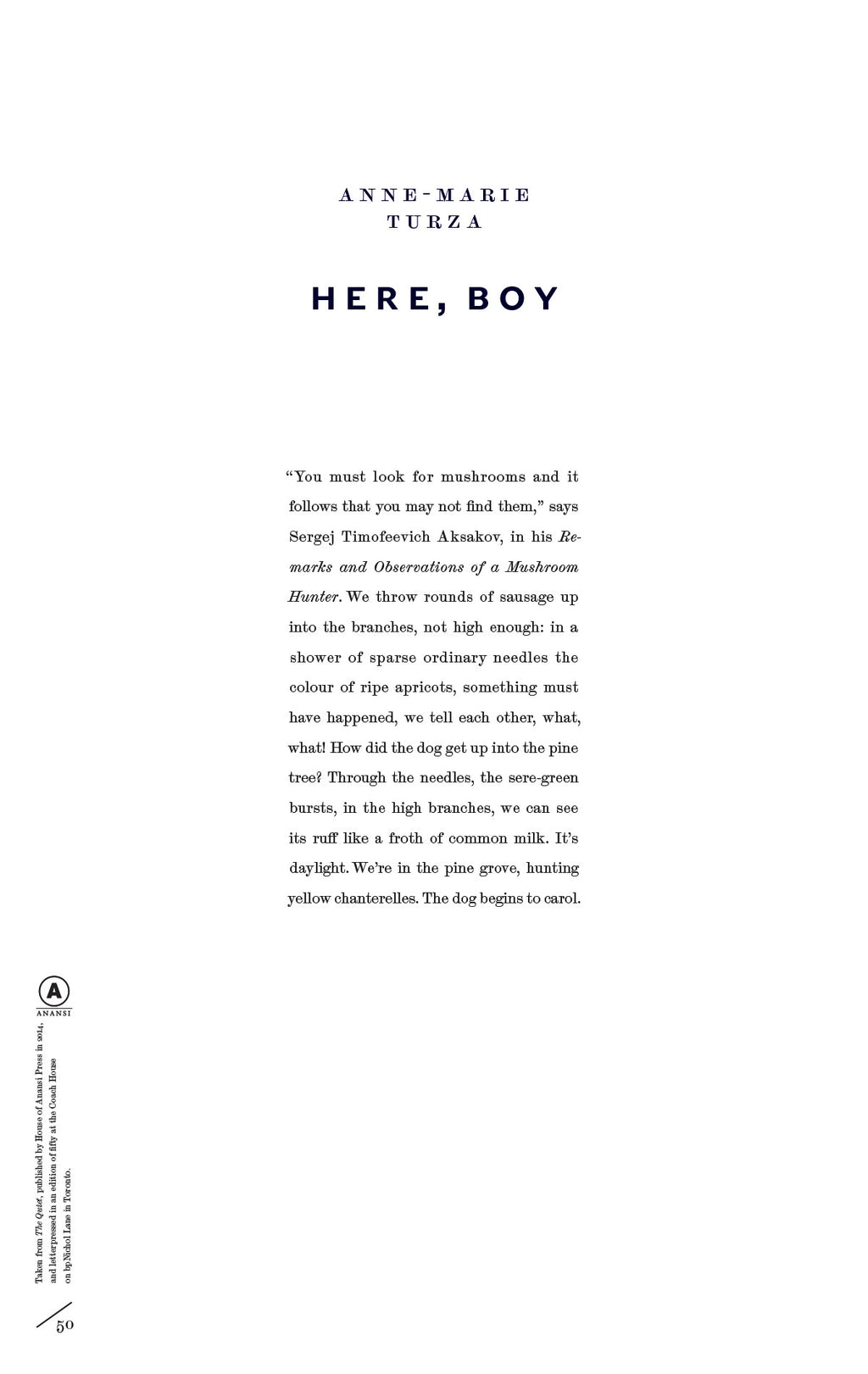 Here, Boy by Anne-Marie Turza