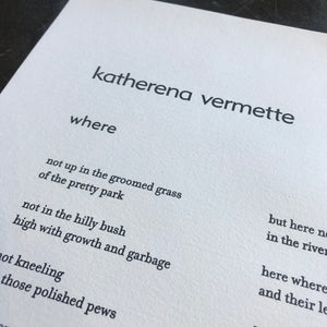 where by Katherena Vermette