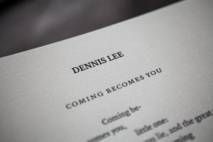Coming Becomes You by Dennis Lee